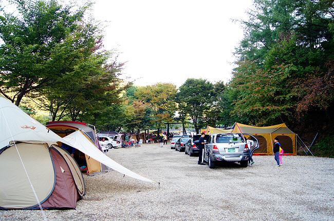늘어선 텐트들