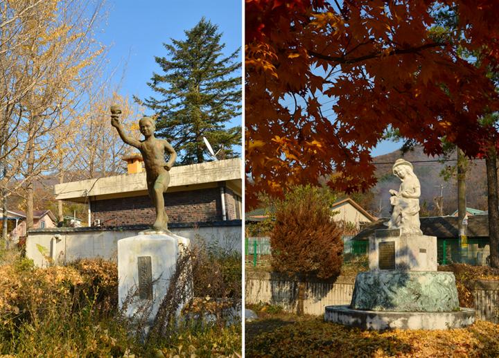 일신분교 내 동상