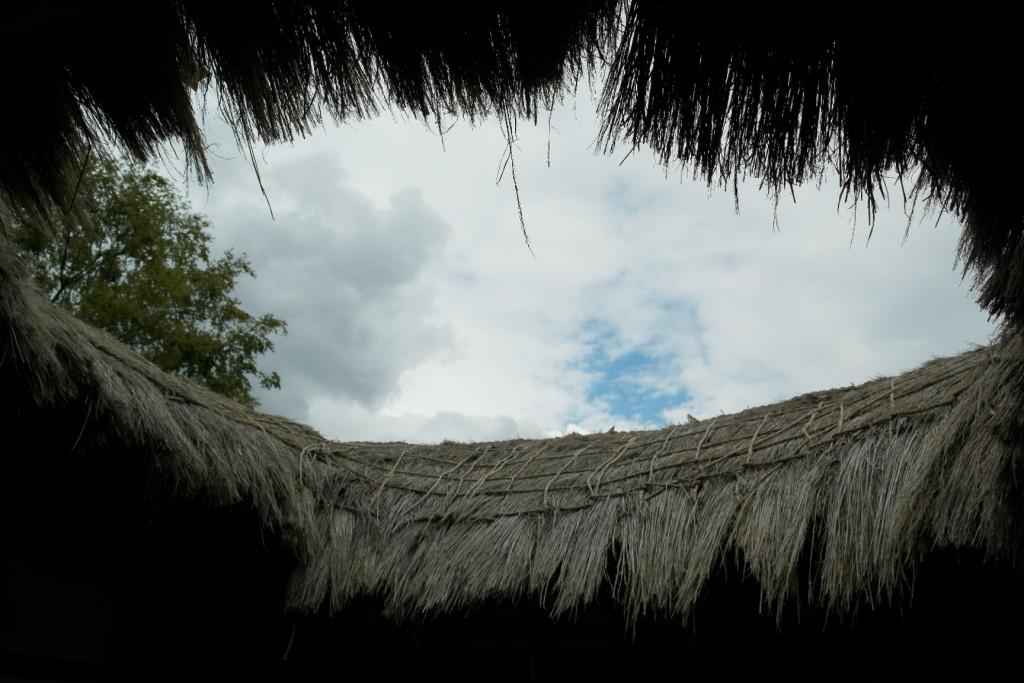 ㅁ자 모양의 초가지붕모양