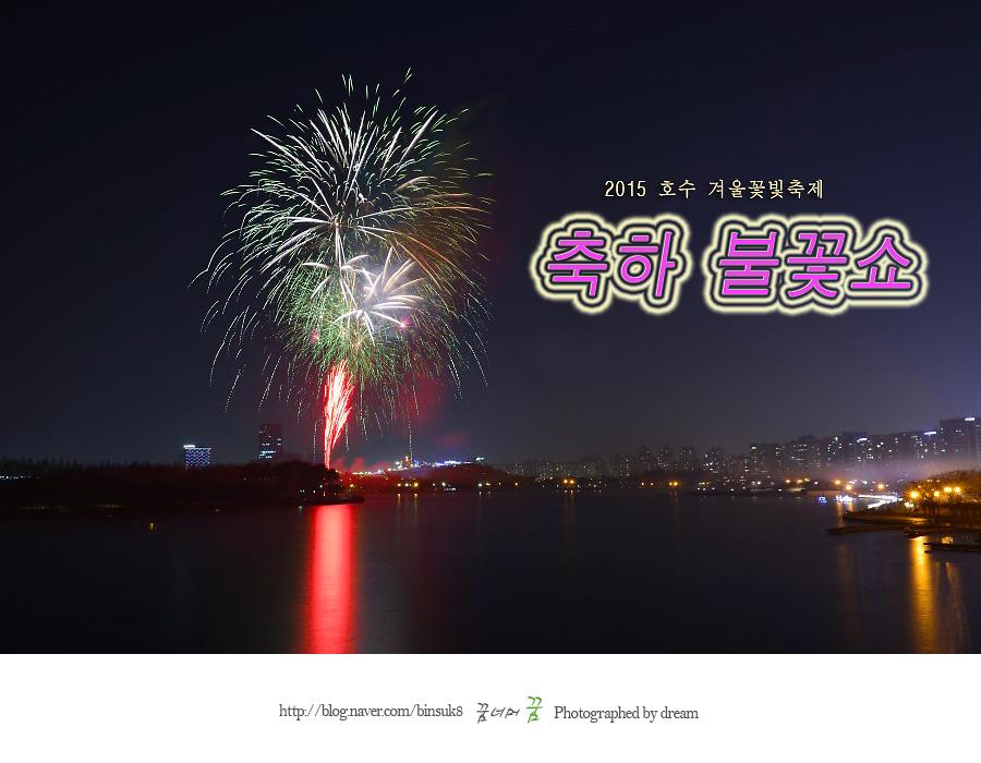 2015.12.31 축하불꽃쇼 겨울호수꽃빛축제