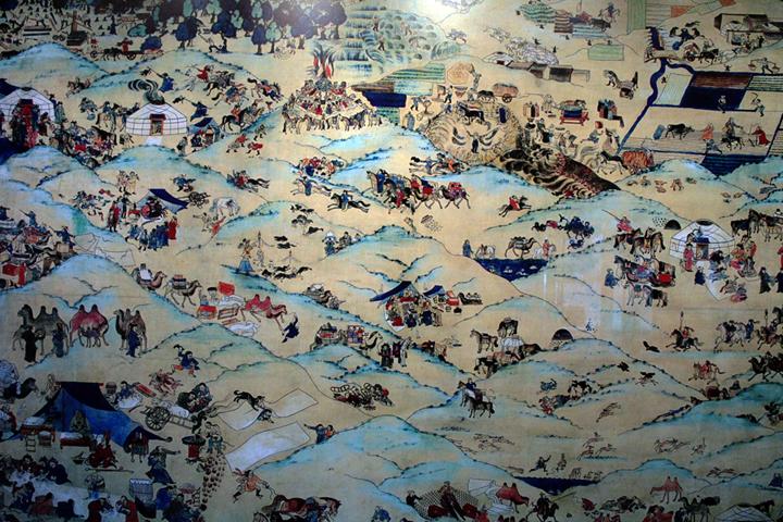몽골인들의 생활을 그린 그림