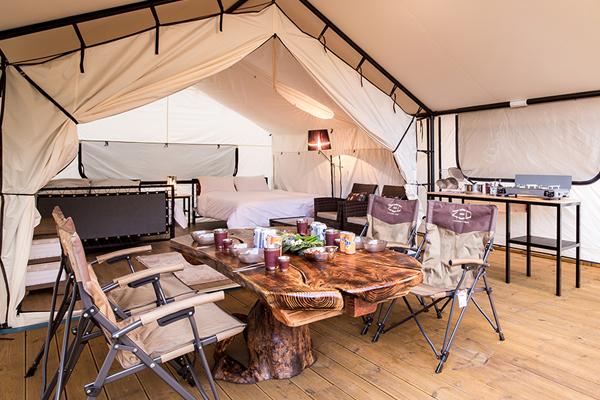 동화힐링캠프 텐트 내부 모습