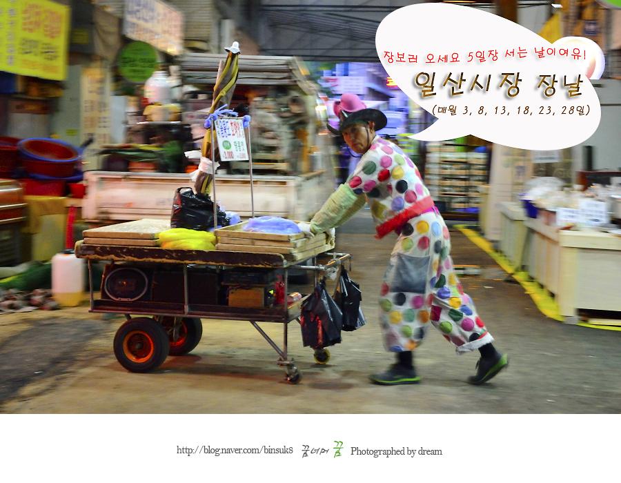 일산시장장날 상인의 모습