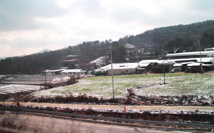 포천지역 겨울풍경