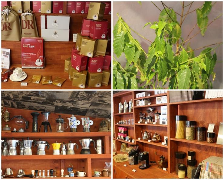 다양한 커피관련 물품들