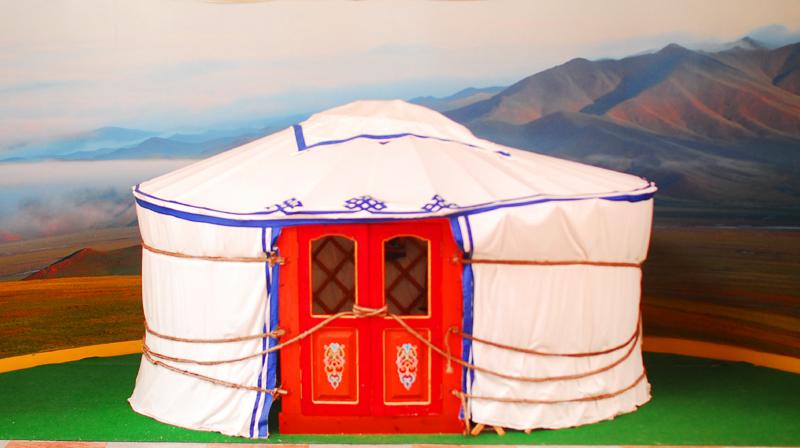 몽골식 텐트 외부