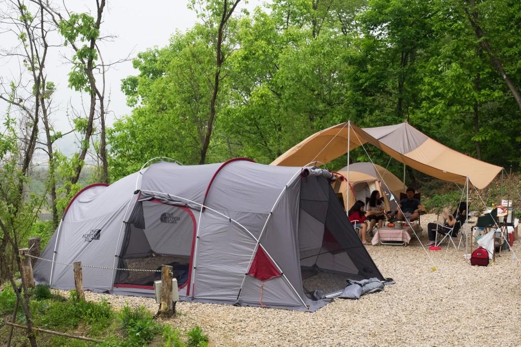 신화캠핑장 캠핑 모습