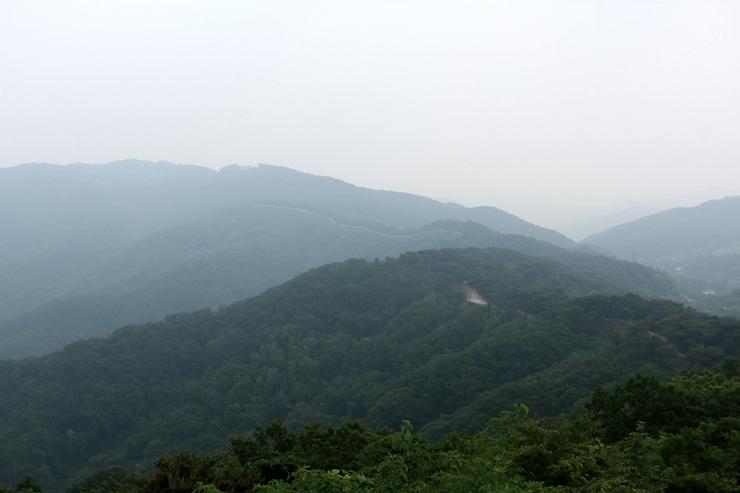 높은 곳에서 바라본 남한산성