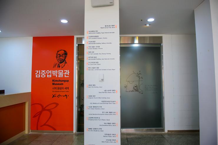 박물관 안내표