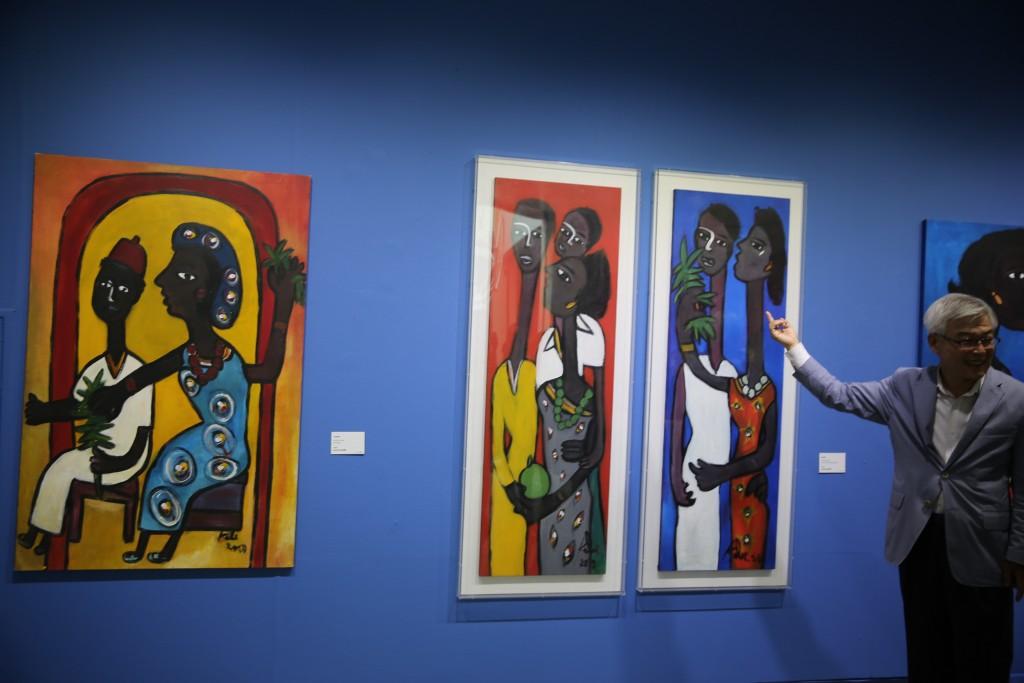 세네갈 이브라히마 케베의 작품