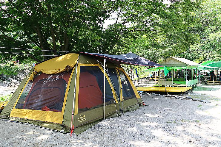 텐트가 쳐진 캠핑장