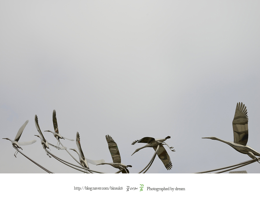 두루미 조형물