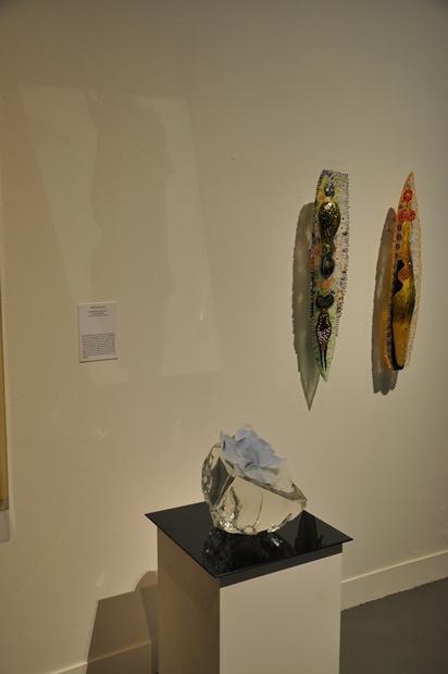유리섬 미술관의 유리 작품들