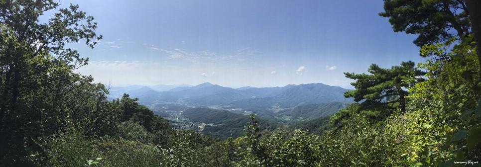 산쪽에서 바라본 풍경