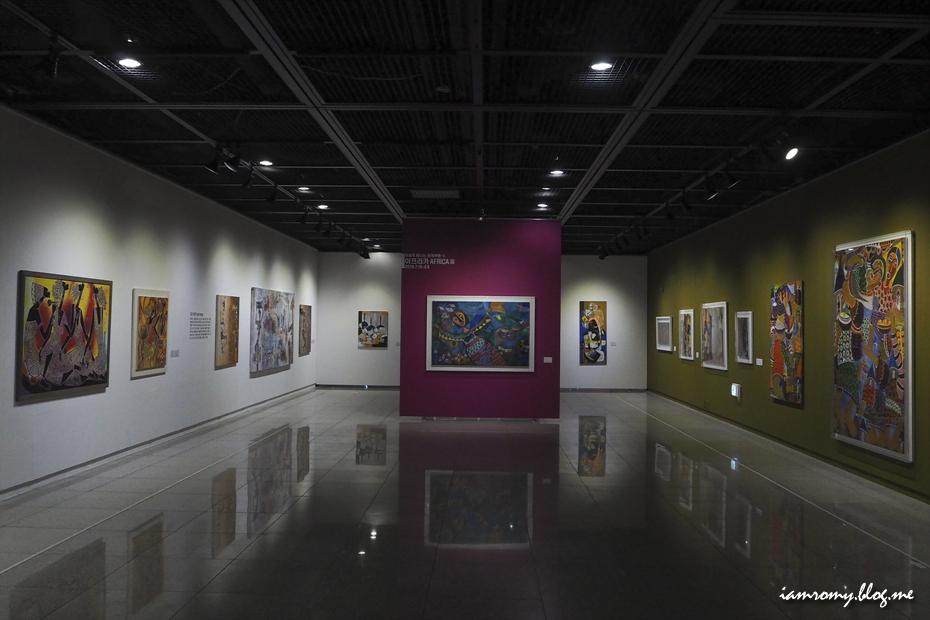 아프리카 미술 전시관 전경