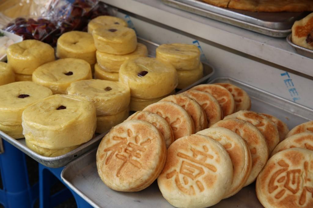 중국식 월병과 빵