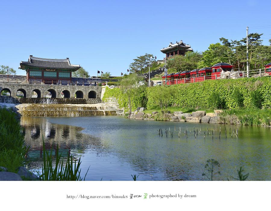 화홍문과 동북각루의 전경