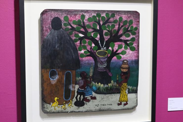 모계사회인 아프리카를 보여주는 그림