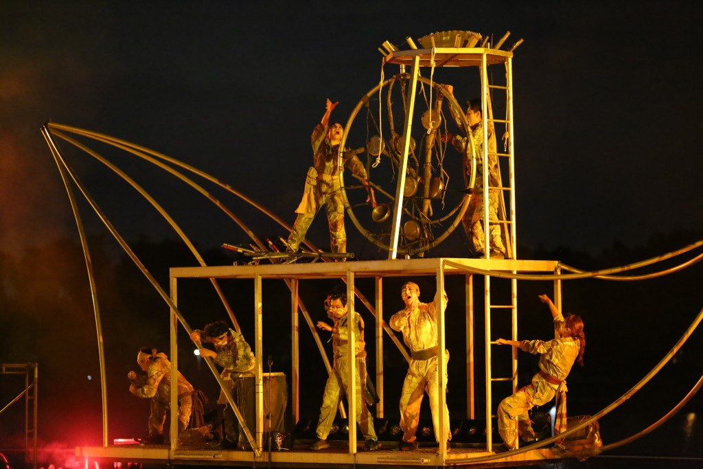 고양호수예술축제의 연극 공연 모습