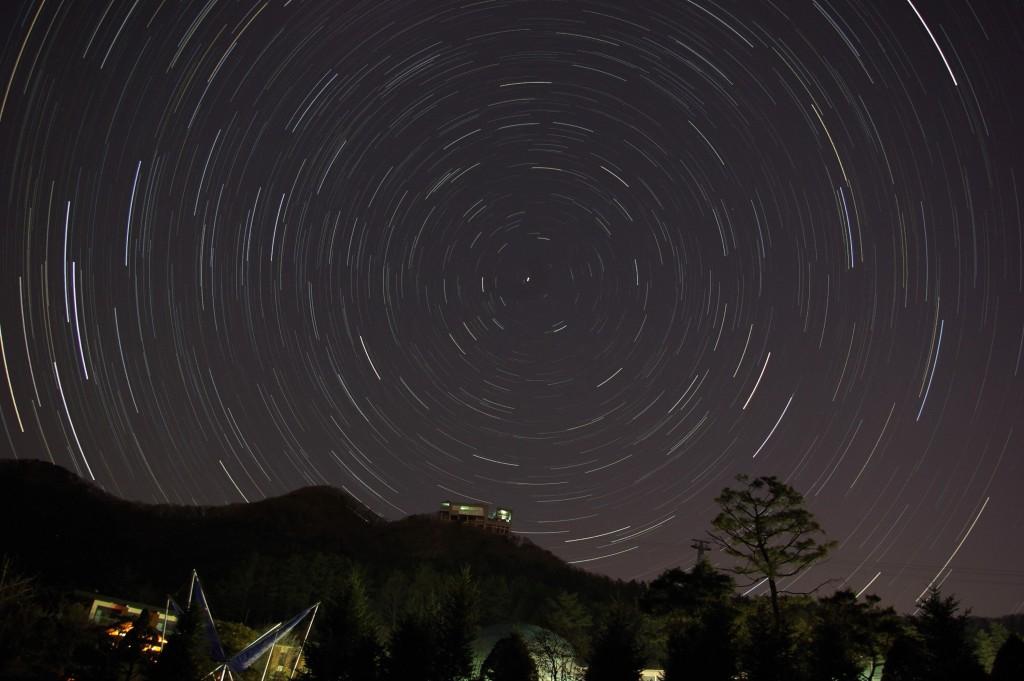송암스페이스센터에서 바라본 별의 움직임 사진