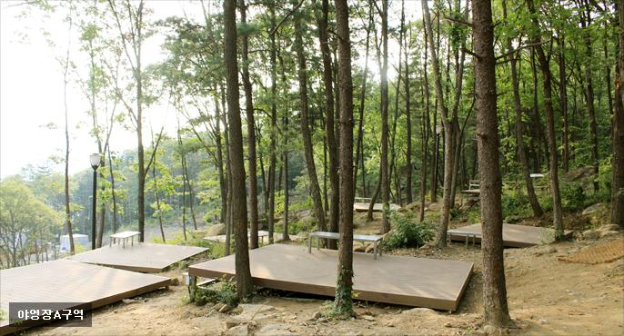 바라산자연휴양림 야영장