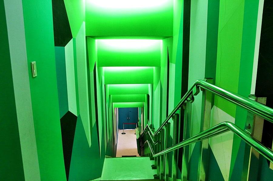 초록색계단