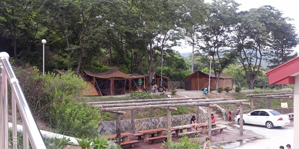학교안 풍경캠핑장