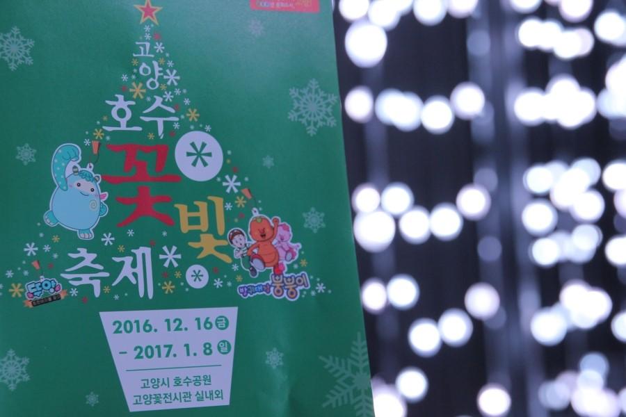 고양호수 꽃빛축재 2016.12.15금 ~ 2017.1.8일 고양시 호수공원 고양꽃전시관 실내외 팜플렛