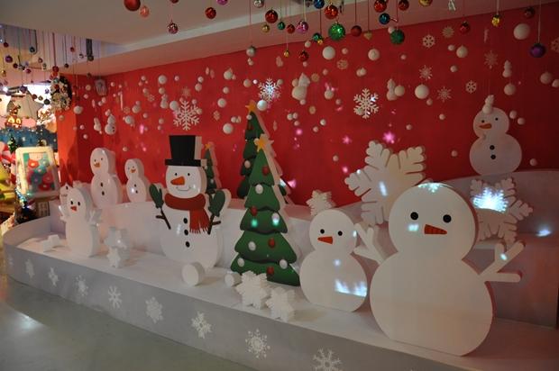 크리스마스 눈사람 조명