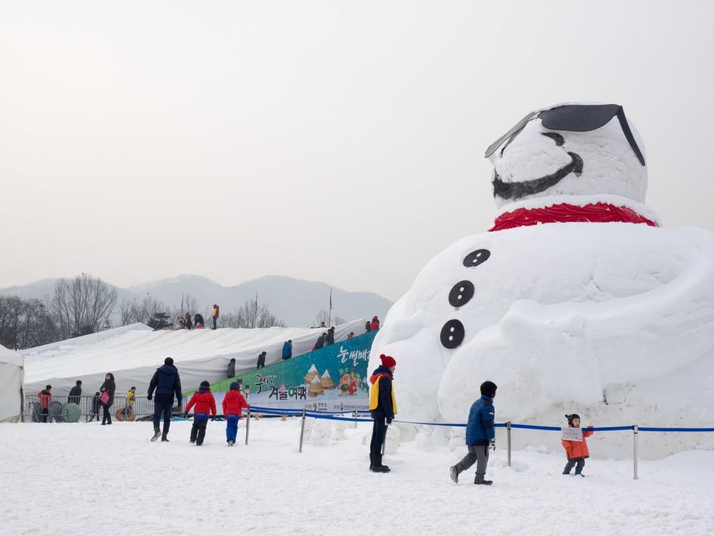 구석기겨울여행 축제 풍경