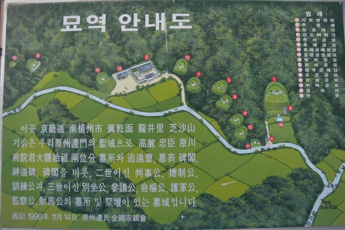 남양주 대은변안렬묘역