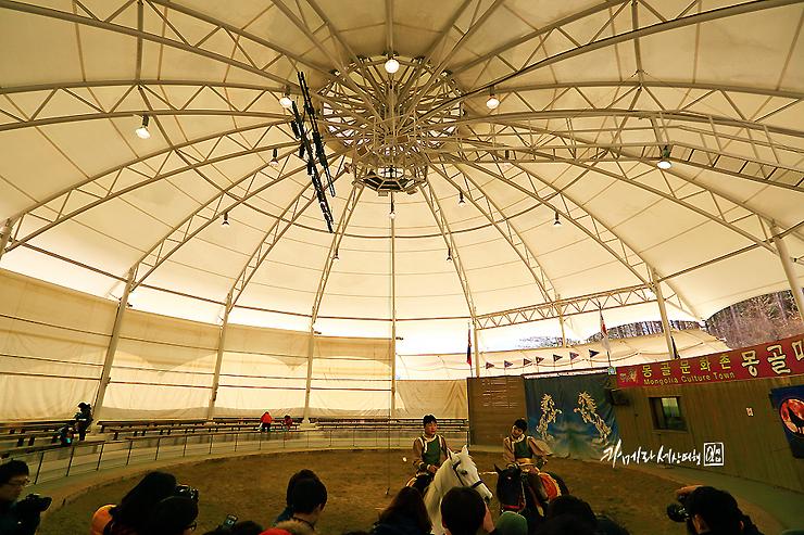 몽골문화촌의 공연장