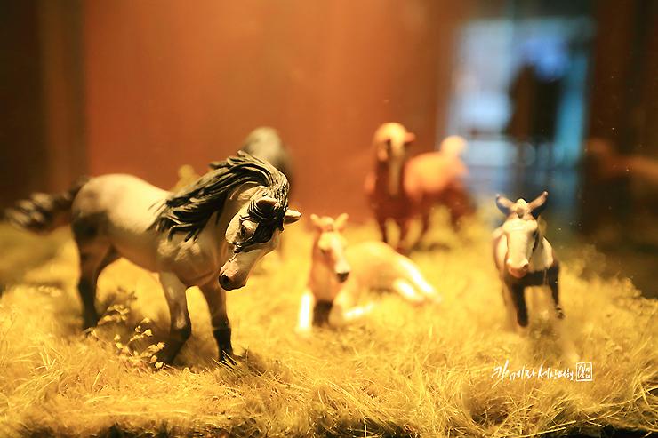 말 모형의 미니어처들