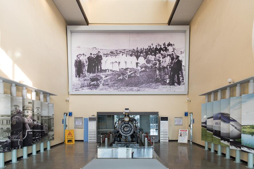 철도 박물관 내부