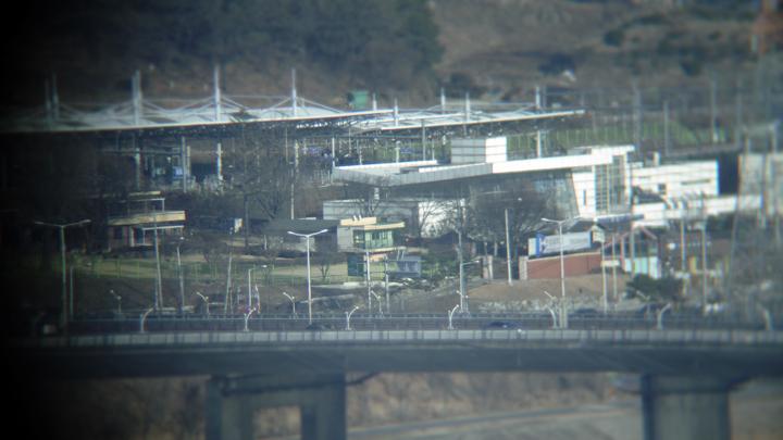 망원경으로 본 팔당역