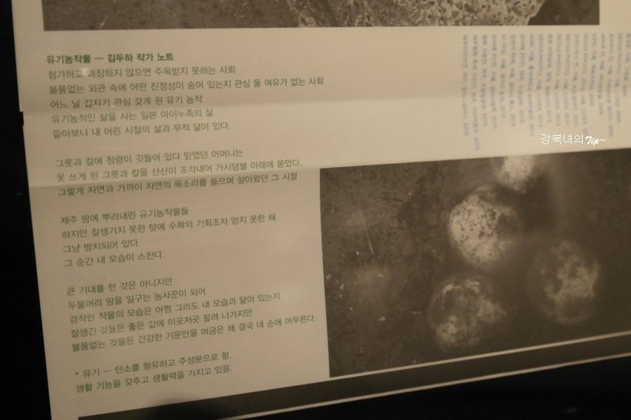 유기농작물 - 김무하 작가노트 안내책자