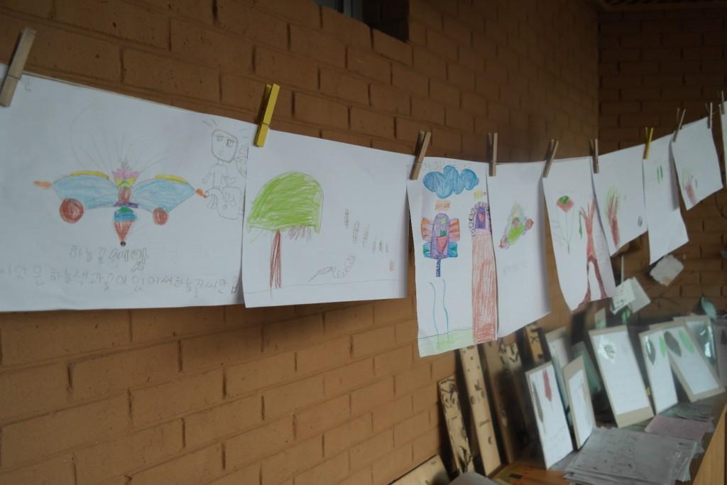 작은 도사관의 아이들 미술놀이 작품