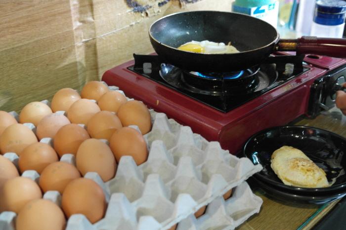 계란 프라이를 할 수 있는 공간