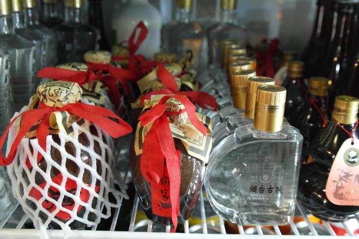 냉장고의 중국 술들
