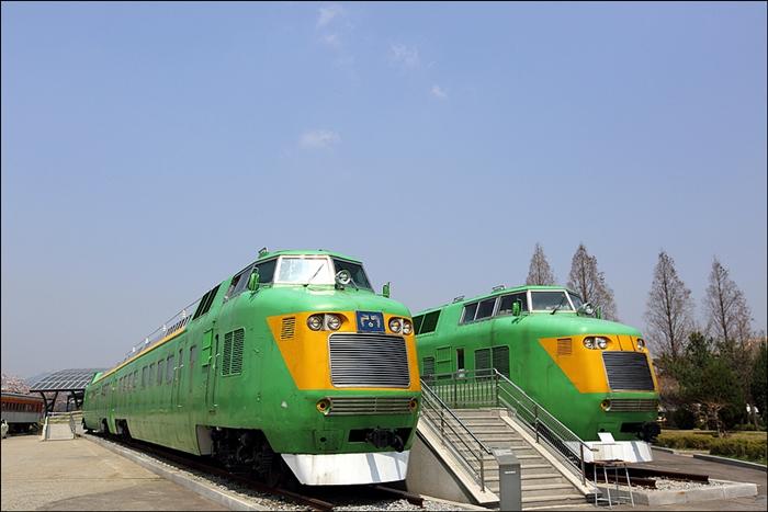 철도박물관의 기차들