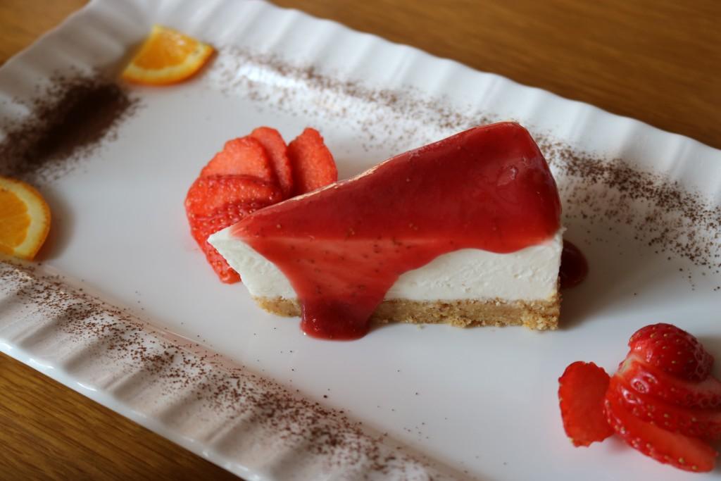 필라델피아 치즈케익 근접사진