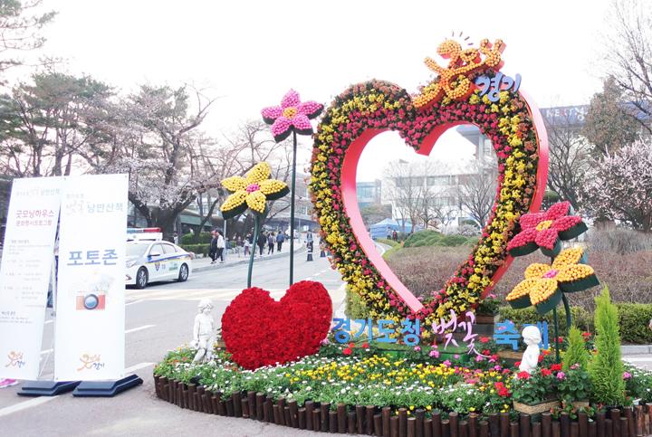 경기도청 벚꽃축제 포토존