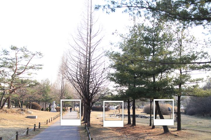 성호공원 내 단원조각공원의 풍경