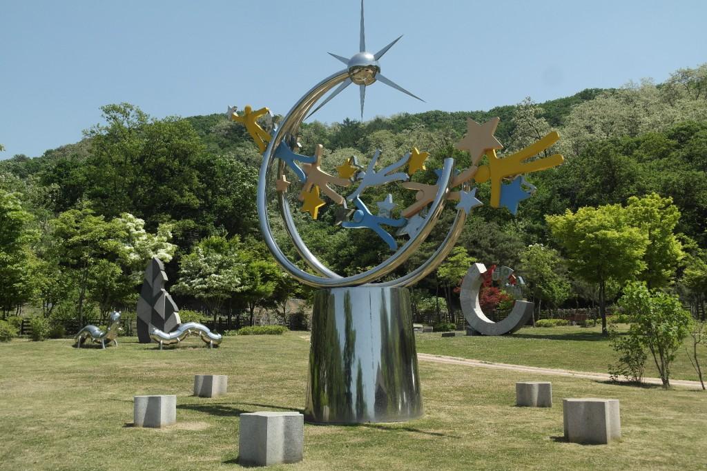 갈미한글공원 조형물