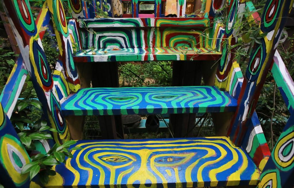 형형색색의 계단