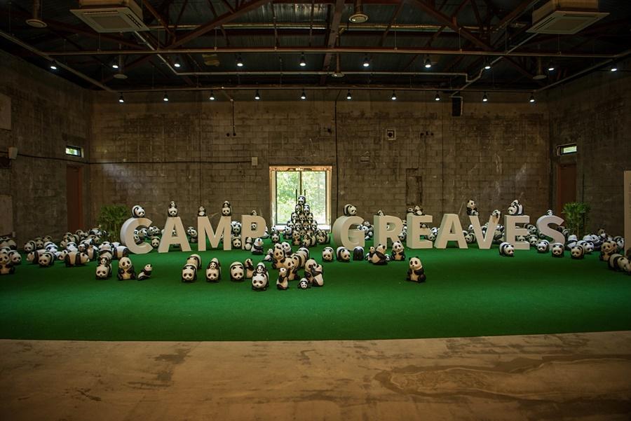 캠프그리브스 마스코트인 팬더들