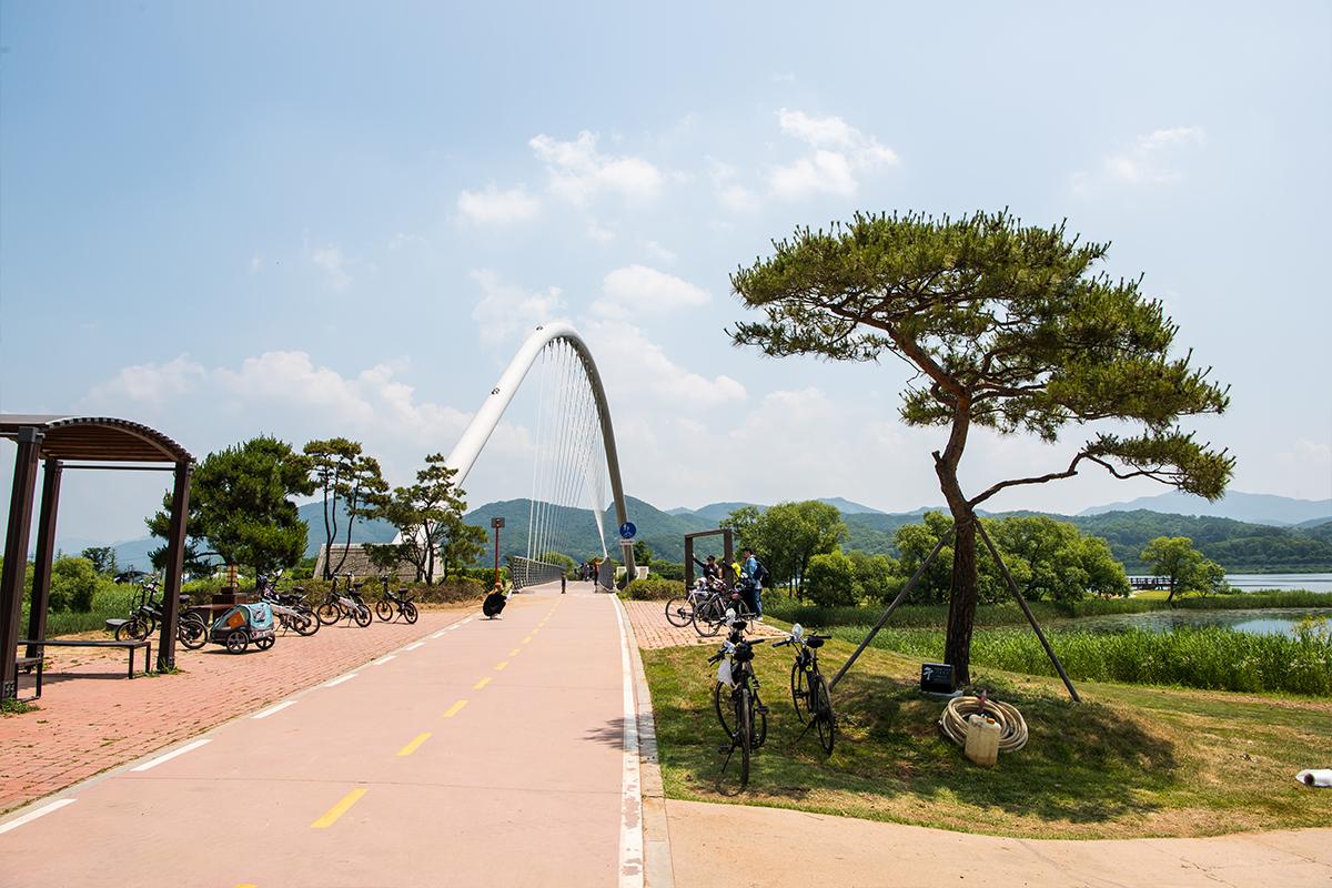 물의정원 자전거 도로길