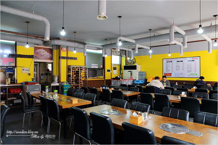 이모네 식당 내부 모습