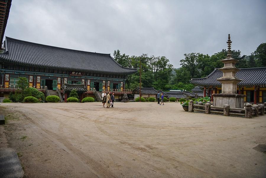 경기도 유형문화재 제 165호 괘불(불화)가 보이는 풍경