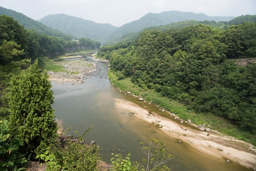 한탄강이 내려다 보이는 풍경